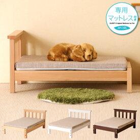 「ペット用木製ベッド COCO(ココ) + ペットベッド用 高反発マットレス(550×400×30)エアクール」  犬 猫 ペットベッド マットレス 高反発 石崎家具