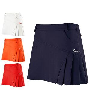 ゴルフウェア バドミントンウェア レディース スカート ポーチ付きボックスプリーツスカート 絶妙な着丈と裾幅でスタイルアップ!安全下着付き 可愛い 定番 無地ゴルフウェア レディース
