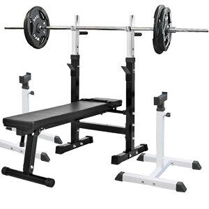 《パッドプレゼント中》フォールディングジムセットB アイアン 105kg[Slim Fit スリムフィット] 送料無料 バーベル ダンベル ベンチプレス トレーニング器具 自宅 大胸筋 腹筋 上腕筋