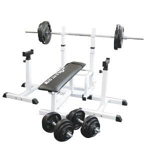 《パッドプレゼント中》フォールディングジムセット 黒ラバー 100kg[Slim Fit スリムフィット] 送料無料 バーベル ダンベル ベンチプレス トレーニング器具 大胸筋 腹筋 上腕筋