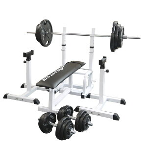 《パッドプレゼント中》フォールディングジムセット 黒ラバー 140kg[Slim Fit スリムフィット] 送料無料 バーベル ダンベル ベンチプレス トレーニング器具 大胸筋 腹筋 上腕筋