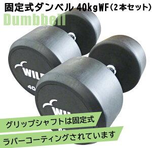 固定式ダンベル 40kg WF 2本セット[Slim Fit スリムフィット] 送料無料 ダンベル ウエイト 筋トレ トレーニング 腹筋 背筋 ベンチプレス ジム 鉄アレイ