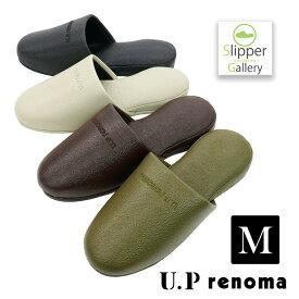 ビニールレザー UPレノマシック Mサイズスリッパルームシューズライセンス renoma レノマおしゃれスリッパ来客用スリッパスリッパヒール来客用slippersオクムラ