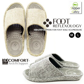 【スラブ風】3DフットリフレクソロジーML3D COMFORT FOOT REFLEXOLOGY健康スリッパ 3Dコンフォートスリッパルームシューズ おしゃれ スリッパオクムラ