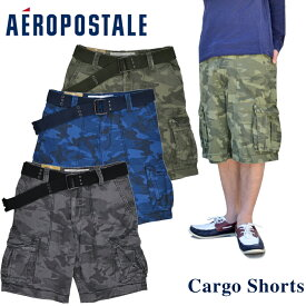Aeropostale エアロポステール Camo Belted Cargo Shorts ショートパンツ メンズ ボトムス【RCP】【クリアランス】
