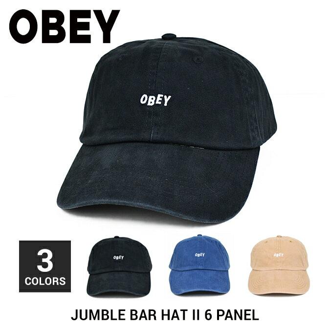 【クーポン利用で最大1,000円OFF】 OBEY / オベイ JUMBLE BAR HAT II 6-PANEL HAT CAP キャップ 帽子 ストラップバックキャップ 6パネルキャップ メンズ レディース ユニセックス ストリート スケート 【RCP】