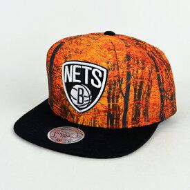 【割引クーポン配布中】 Mitchell & Ness(ミッチェル&ネス) スナップバック ブルックリン ネッツ キャップ 帽子 FOREST CAMO SNAPBACK BROOKLYN NETS NBA 【RCP】