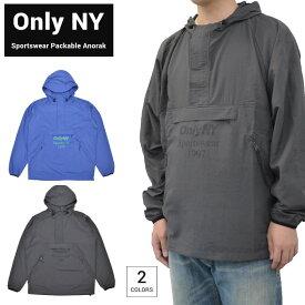【割引クーポン配布中】 ONLY NY オンリーニューヨーク SPORTSWEAR PACKABLE ANORAK JACKET ナイロン アノラックジャケット マウンテンパーカー パッカブル メンズ アウター ブルー チャコール S-XL