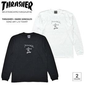 【割引クーポン配布中】 THRASHER スラッシャー ロンT GONZ ART L/S T-SHIRT TEE Tシャツ カットソー トップス 長袖 メンズ M-XL ブラック ホワイト TH8328 【単品購入の場合はネコポス便発送】