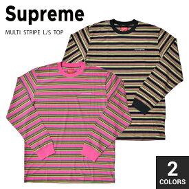 【割引クーポン配布中】 Supreme シュプリーム MULTI STRIPE L/S TOP TEE Tシャツ 長袖 カットソー ストライプ柄 メンズ ストリート スケート SUPREME 【在庫一掃】
