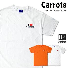 【割引クーポン配布中】 Carrots By Anwar Carrots キャロッツ I LOVE CARROTS T-SHIRT TEE Tシャツ 半袖 メンズ クルーネックTシャツ ティーシャツ ストリート 【単品購入の場合はネコポス便発送】【オータムバーゲン】