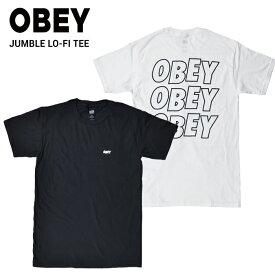 【クーポン利用で最大1,000円OFF】 OBEY オベイ JUMBLE LO-FI TEE Tシャツ 半袖 メンズ クルーネックTシャツ ティーシャツ ストリート スケート 【単品購入の場合はネコポス便発送】