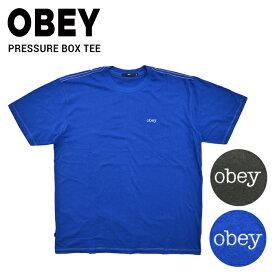 【クーポン利用で最大1,000円OFF】 OBEY オベイ PRESSURE BOX TEE Tシャツ 半袖 メンズ クルーネックTシャツ ティーシャツ ストリート スケート 【単品購入の場合はネコポス便発送】