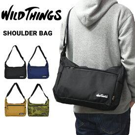 【割引クーポン配布中】 WILD THINGS ワイルドシングス SHOULDER BAG ショルダーバッグ メッセンジャーバッグ ボディバッグ 鞄 メンズ レディース ユニセックス カジュアル アウトドア WT-380-0006 【RCP】
