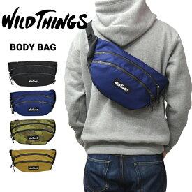 【割引クーポン配布中】 WILD THINGS ワイルドシングス WAIST BAG ウエストバッグ ボディバッグ ショルダーバッグ 鞄 メンズ レディース ユニセックス ストリート アウトドア WT-380-0005 【RCP】