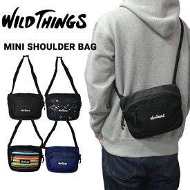 【割引クーポン配布中】 WILD THINGS ワイルドシングス MINI SHOULDER BAG ミニ ショルダーバッグ メッセンジャーバッグ ボディバッグ 鞄 メンズ レディース ユニセックス カジュアル アウトドア WT-380-0010 【RCP】