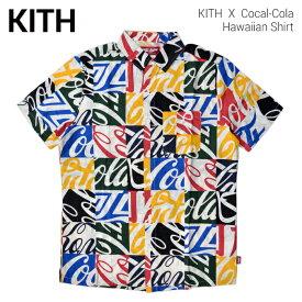 【割引クーポン配布中】 KITH NYC キス ニューヨークシティ COCA-COLA HAWAIIAN SHIRT シャツ 半袖 カジュアルシャツ コカ・コーラ メンズ ストリート スケート