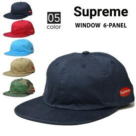 【割引クーポン配布中】 Supreme シュプリーム WINDOW 6-PANEL CAP キャップ 6パネルキャップ 帽子 ストラップバックキャップ メンズ レディース ストリート スケート SUPREME 【RCP】