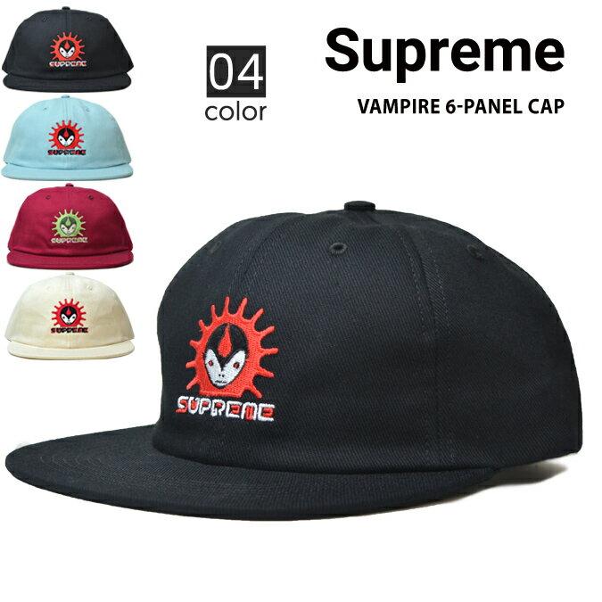 【クーポン利用で最大1,000円OFF】 Supreme シュプリーム VAMPIRE 6-PANEL CAP キャップ 6パネルキャップ 帽子 スナップバックキャップ メンズ レディース ストリート スケート SUPREME