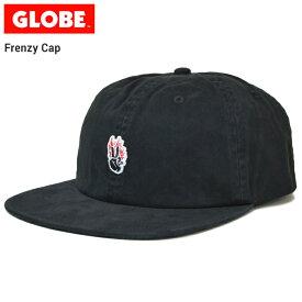 【割引クーポン配布中】 GLOBE グローブ FRENZY CAP キャップ 帽子 ストラップバックキャップ 6パネルキャップ メンズ レディース ユニセックス ストリート スケート