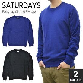 【割引クーポン配布中】 SATURDAYS NYC サタデーズ ニューヨークシティ Everyday Classic Sweater クルーネック セーター ニット メンズ ストリート サーフ
