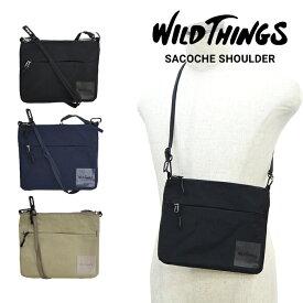 【割引クーポン配布中】 WILD THINGS ワイルドシングス SACOCHE SHOULDER BAG ナイロン サコッシュ バッグ ショルダーバッグ 鞄 メンズ レディース ユニセックス カジュアル アウトドア WT-380-0137