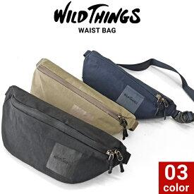 【割引クーポン配布中】 WILD THINGS ワイルドシングス WAIST BAG ウエストバッグ ショルダーバッグ ボディバッグ 鞄 メンズ レディース ユニセックス カジュアル アウトドア WT-380-0135