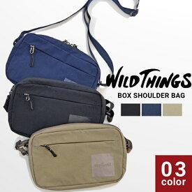【割引クーポン配布中】 WILD THINGS ワイルドシングス BOX SHOULDER BAG ナイロン サコッシュ バッグ ショルダーバッグ 鞄 メンズ レディース ユニセックス カジュアル アウトドア WT-380-0138