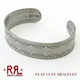 【割引クーポン配布中】 RRL ダブルアールエル ブレスレット Ralph Lauren ラルフローレン Sterling Silver Flat Cuff Bracelet スターリングシルバー カフ バングル アクセサリー メンズ