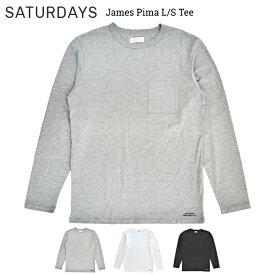 【割引クーポン配布中】 サタデーズ ニューヨークシティ Tシャツ ロンT SATURDAYS NYC James Pima L/S Tee 長袖 カットソー クルーネック ティーシャツ カットソー サーフ 【単品購入の場合はネコポス便発送】
