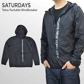 【割引クーポン配布中】 サタデーズ ニューヨークシティ SATURDAYS NYC ジャケット Tatsu Packable Windbreaker Jacket ウインドブレイカー ナイロンジャケット アウター ブルゾン メンズ ストリート サーフ