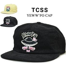 【割引クーポン配布中】 TCSS キャップ ティーシーエスエス YEWW'FO CAP SNAPBACK CAP 帽子 スナップバックキャップ 5-PANEL 5パネルキャップ サーフブランド メンズ レディース ユニセックス HW1878