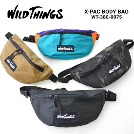 【割引クーポン配布中】 WILD THINGS ワイルドシングス ボディバッグ X-PAC BODY BAG ウエストバッグ ショルダーバッグ ボディバッグ 鞄 メンズ レディース ユニセックス カジュアル アウトドア WT-380-0075