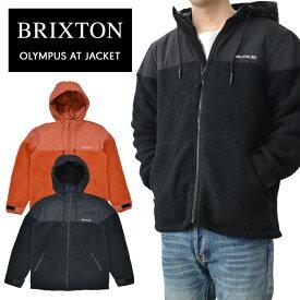 【割引クーポン配布中】 ブリクストン ジャケット BRIXTON OLYMPUS AT JACKET フリースジャケット ボアジャケット 長袖 メンズ S-XL ブラック ピカンテ 03227