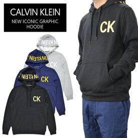 【割引クーポン配布中】 Calvin Klein Jeans カルバン クライン ジーンズ パーカー NEW ICONIC GRAPHIC HOODIE プルオーバー パーカー スウェット フリース CK JEANS 長袖 メンズ ブラック ネイビー グレー S-XL 41Q9001