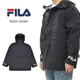 【割引クーポン配布中】 FILA HERITAGE フィラ ヘリテージ ジャケット NYLON JACKET ナイロンジャケット マウンテンパーカー アノラックジャケット メンズ M-XL ブラック FM9675