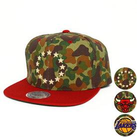 【割引クーポン配布中】 Mitchell & Ness(ミッチェル&ネス) ストラップバック キャップ 帽子 CAMO WITH TC VISOR STRAPBACK CAP NBA 【532P19Mar16】【RCP】