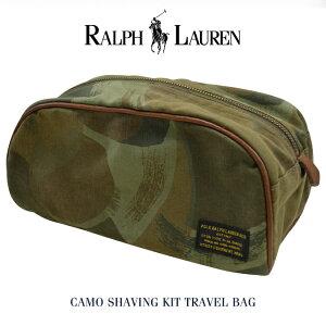 【割引クーポン配布中】 POLO Ralph Lauren ポロ ラルフローレン Camo Shaving Kit Travel Bag トラベルバッグ ポーチ 鞄 小物入れ