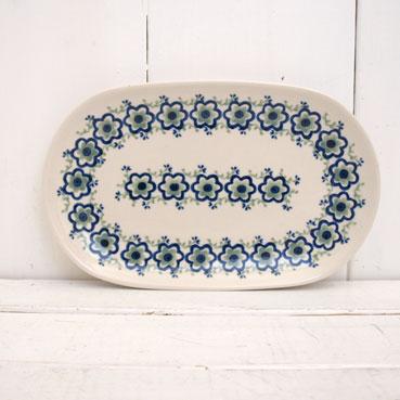 ドイツ Heise Keramik ハイゼ 陶器 オーバルプレート