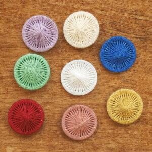チャルカ チェコの糸ボタン 5個セット 16mm 【ボタン かわいい おしゃれ セット 手芸 パーツ 入園 入学 女の子】【メール便対象品】