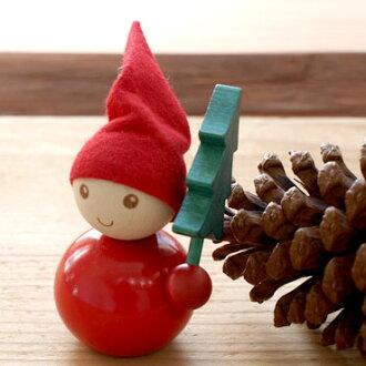 芬兰 Aarikka Aarikka TONTTU 木玩偶-圣诞树