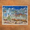 ドイツ R.Sellmer Verlag社 クリスマス アドベントカレンダー L クリスマスの街