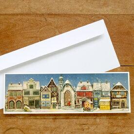 ドイツ R.Sellmer Verlag社 クリスマス アドベントカレンダー カード 小さな街パノラマ【メール便対象品】