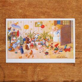 ドイツ製 ポストカード クリスマスカード おもちゃの行進 【メール便対象品】