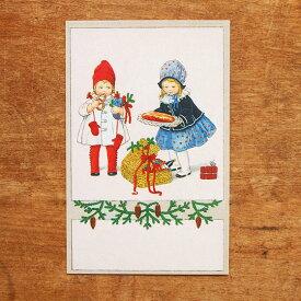 ドイツ製 ポストカード クリスマスカード クリスマスバスケット 【メール便対象品】