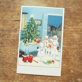 ドイツ製 ポストカード クリスマスカード クリスマス 天使の訪問 【メール便対象品】