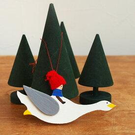 クリスマス オーナメント 北欧 木製 ツリー 飾り スウェーデン Larssons Tra ラッセントレー 木製オーナメント ニルス S【メール便対象品】