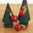 クリスマス オーナメント 北欧 木製 ツリー 飾り スウェーデン Larssons Tra ラッセントレー 木製オーナメント 赤いりんご3個【メール…