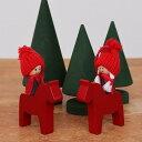 クリスマス オーナメント スウェーデン Larssons Tra ラッセントレー 木製 オーナメント ダーラナホース&トムテ