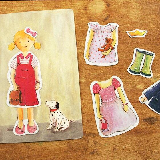 ミニマグネットブック ドレスアップガール おもちゃ かわいい ベルギー Egmont Toys エグモントトイズ【メール便対象品】